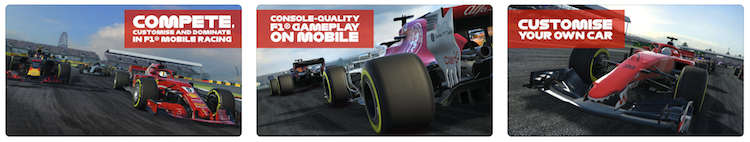 Sports games screenshot: F1 car